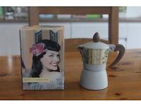 Elegant stove top coffee maker, Italian style, Brandani, unused
