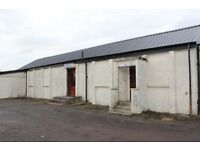 STORAGE UNIT, WORKSHOP WITH RETAIL SHOP/OFFICE AND YARD. JOHNSTONE, NEAR GLASGOW, RENFREWSHIRE.