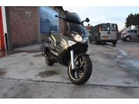 Gilera Runner 125ST Black 125cc 2013 Immaculate Condition Long MOT Moped Courier Bike
