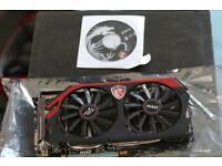 AMD MSI r9 270x graphics card/ gpu