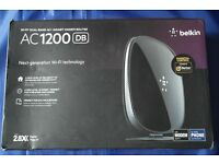 Belkin AC 1200 (DB) Wireless Router with Modem