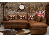 Halo Nevada Aniline Leather Right Hand Facing Corner Sofa