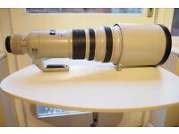 Canon EF 500mm F/4.0 EF IS L USM Lens Mark I
