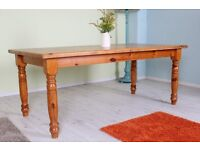6 FT SOLID PINE FARMHOUSE TABLE RUSTIC LOOKING WITH AGE MARKS - CAN COURIER
