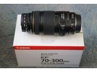 Canon 70-300 mm lens.