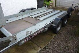 Brian James Clubman twin axle trailer