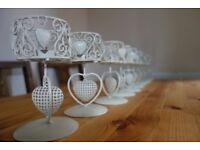 Shabby Chic Wedding Candle Holders