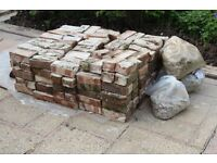 Free Hardcore - About 500 old bricks with mortar for collection Wimborne area