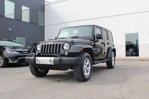 2014 Jeep Wrangler UNLIMITED SAHARA 4X4 *2TOITS/NAV/SIEGES CHAUF