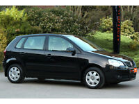 *Beautiful*VW Polo 1.2 S 5Door, FVWSH, Met. Black, Full MOT,*12 Months Warranty*