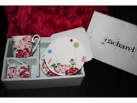 Cacharel Papillons Fine Bone China Cup and Saucer x 2