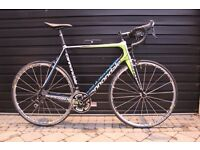 CANNONDALE SUPERSIX 105 CARBON ROADBIKE 58 CM