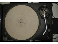 Pair of Technics 1210's with Decksavers