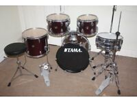 Tama Stagestar Wine Red 5 Piece Full Drum Kit (18 in bass) + Stands + Stool + Cymbals