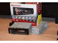 PIONEERCAR CD USB RADIO AUXIN PLAY IPODPHONE/WIRES/CAGE/SUB CONNEC