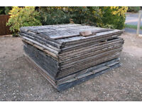 FREE - Approx 18 6' x 6' old fence panels for fire wood