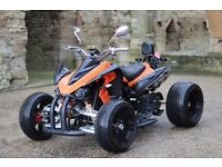 NEW 2016 250CC ORANGE ROAD LEGAL QUAD BIKE ASSEMBLED IN UK FINANCE AVAILABLE, FREE NEXT DAY DELIVERY