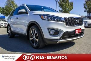 2016 Kia Sorento EX+. 7-PASS. LEATHER. ROOF. CAM. PWR SEAT. ALLO