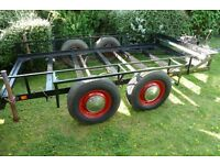 Small car / quad bike / flat bed trailer – double axle
