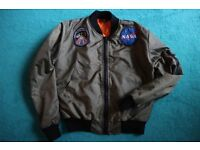 Urban Renewal Vintage Surplus NASA MA1 Green Bomber Jacket