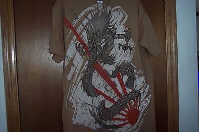 Dragon T-Shirt Long sleek Oriental Design NWT-M](Oriental T)