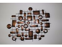 Metal Wall Art - bronze effect