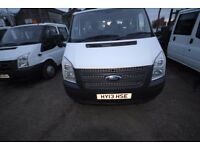 FORD TRANSIT 100 T-350 LWB DOUBLE CAB TIPPER - 13-REG