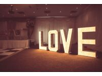 Light up love letters, weddings, engagements
