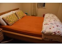 Amazing Double Bed With Side Table Drawer Set