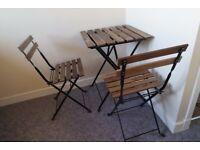 TÄRNO-Set (Table and Two Chairs)