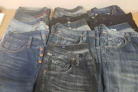 Mens Designer Jeans size 30 x 10 pairs