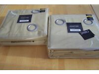 "2 Pairs of Brand New Next ORCHE Colour Blackout Eyelet Curtains 135cm (53"") x 183cm (72"")"