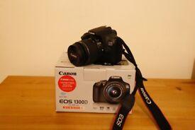 Canon 1300d digital SLR camera + 18-55mm IS lens - LIKE NEW