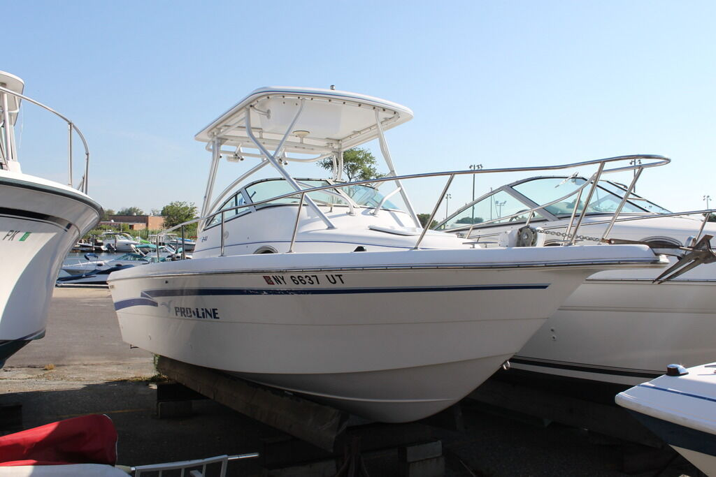 1999 pro line 241 walk around fishing boat clean title low for Used fishing boats for sale in california