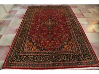 Full room size fine and rare quality lamb's wool Persian Kashmar Rug carpet 297x203 cm