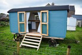 Shepherds hut, (fully furnished.)