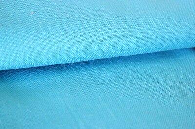 BOUT DE TISSU de tissu VINTAGE TOILE DE LIN TURQUOISE cm 90 x 280 / Étoffe