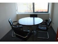 Meeting Room Table and Office Chairs (Set)