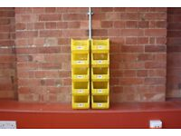 10 x Warehouse Storage Picking Bins Part Containers Plastic