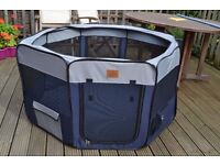 Sunnypet Large Pet Playpen Exercise Puppy Dog Folding Easy Storage Home Garden