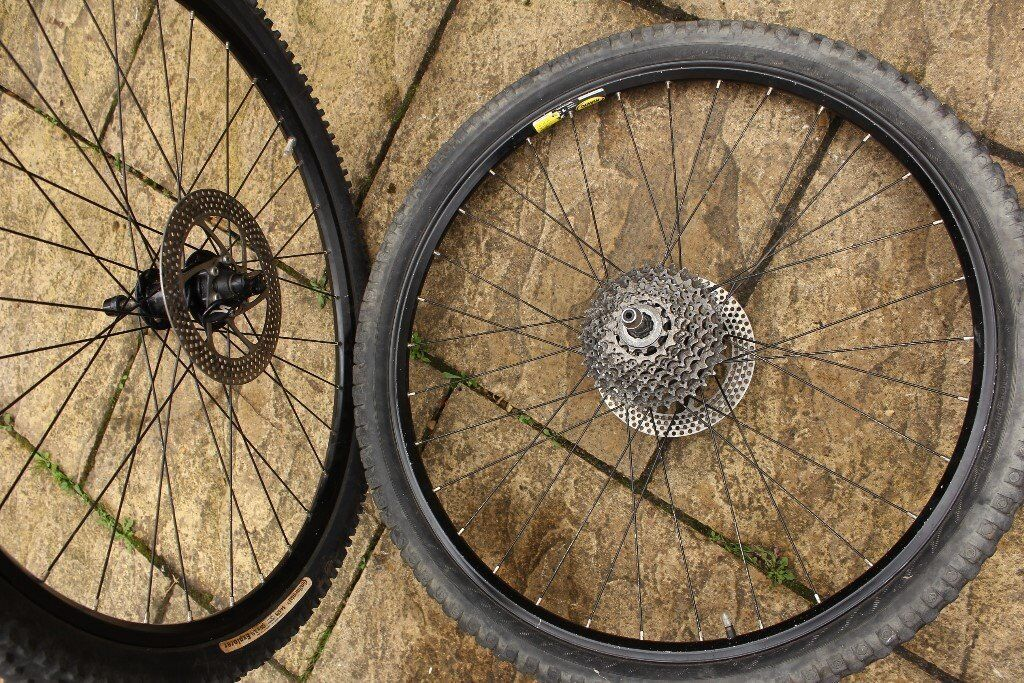 Mavic Disc X 139 Rims with 26x2.1 inch off-road Continental tyres & cassette- Mountain bike, MTB