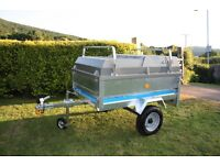 Perfect camping trailer, complete with Erde ABS lid, load bars, spare wheel & telescopic jockey