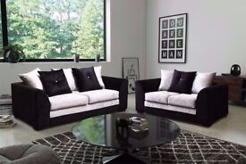 SAME DAY DELIVERY! BRAND NEW DYLAN CRUSHED VELVET CORNER OR 3 AND 2 SOFA SET == EXPRESS DELIVERY==