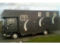 7.5 tonne iveco tector 51plate. tri-star coach built horsebox
