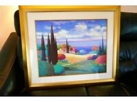 Provence / Tuscan Scene - High Quality Print in Excellent Glazed Frame