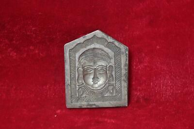 Iron Mold Old Antique Vintage Rare Carved Hindu God Face Collectible BI-92
