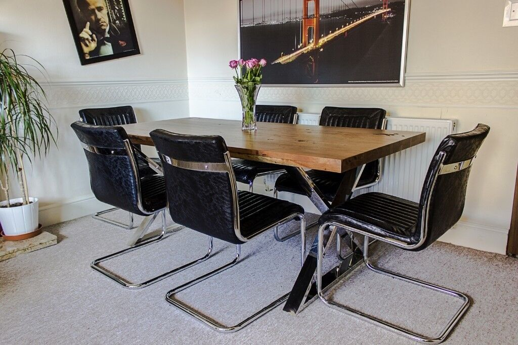 For Sale 6x New Novo Dining Chairs Industrial