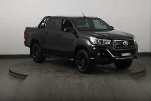 2018 Toyota Hilux GUN126R Rogue (4x4) Black 6 Speed Automatic Dual Cab Utility