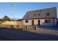Brand New 2 bedrooms semi detached house 50m from sea cost in sea board village BALINTORE IV20 1UW