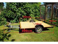 Galvanised Alko Platform Trailer Car Trailer Quad Motorbike Trailer flat bed 750kg